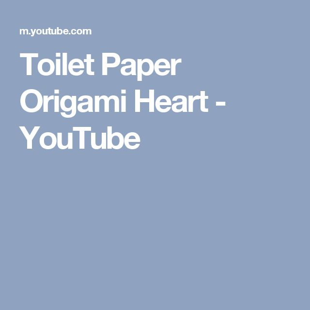 17 Best ideas about Toilet Paper Origami on Pinterest ... - photo#33