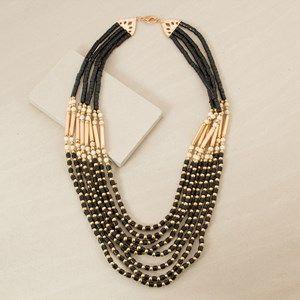 Multi Strand Stone & Ball Mix Long Necklace