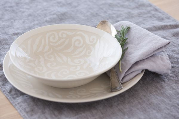 Vanilja Soup Plate | This plate belongs to Vanilja tableware series. Designed by Anu Pentik, delicious and rich-in-style Vanilja series makes a fantastic collector's item that brings vanilla to everyday life and festive occasions! Made in Posio, Lapland, these pottery utensils are extremely durable and long-lived.