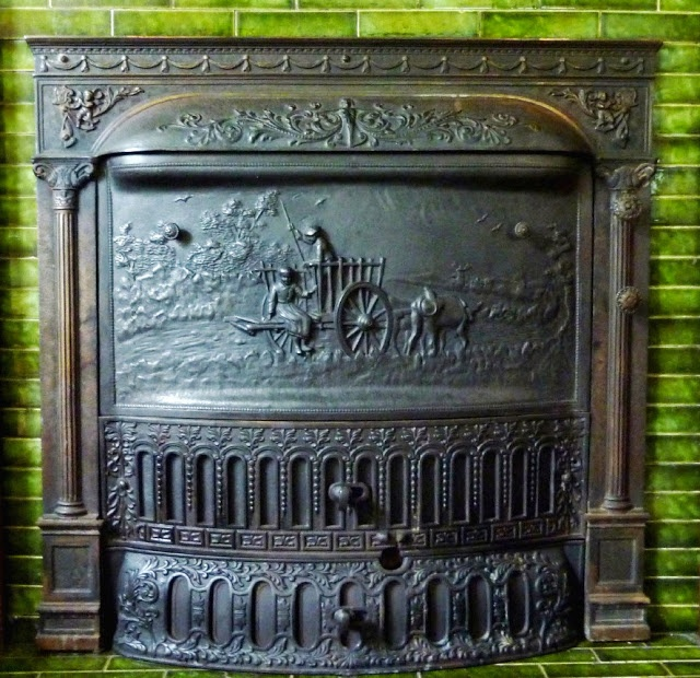 1906 fireplace insert by dawson bros chicago ill cast iron fireplace coal basket cast iron coal fireplace