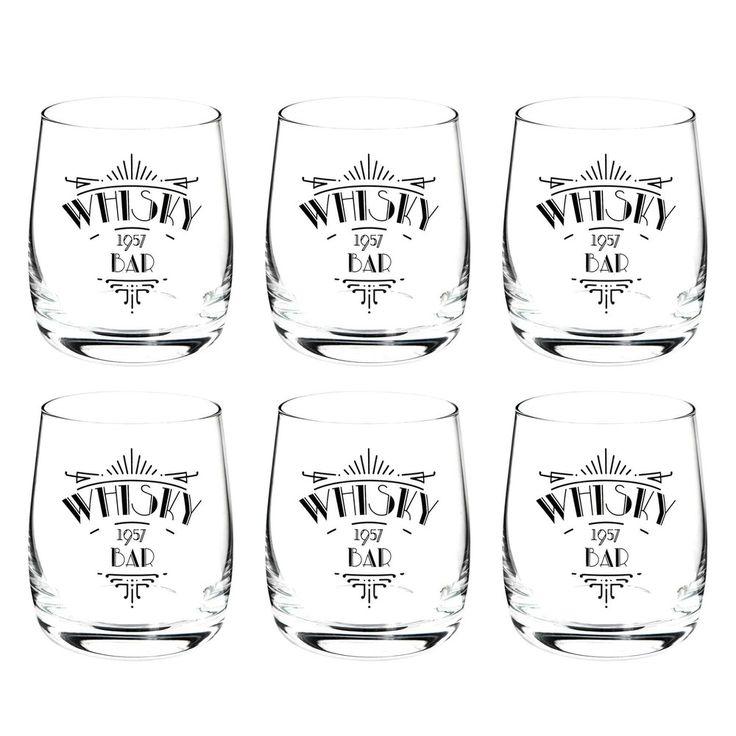 Coffret de 6 verres à whisky WHISKY ...