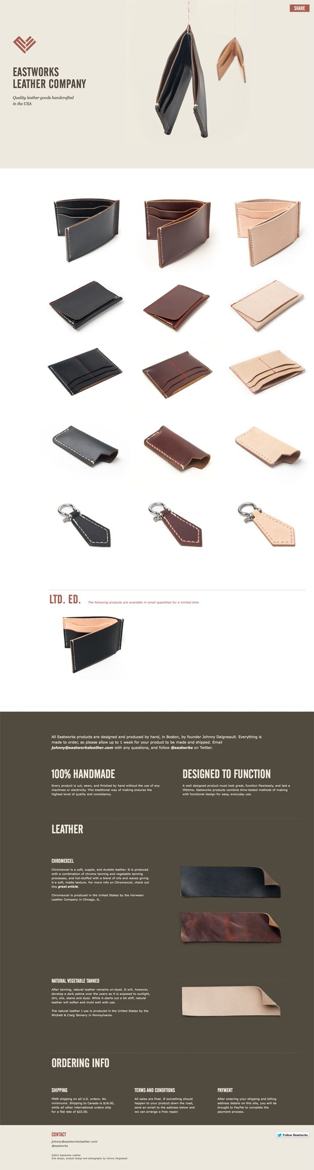 Best Product Sites » Eastworks Leather