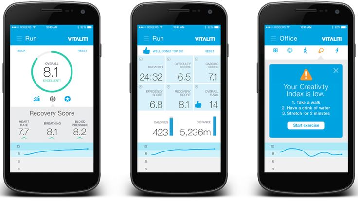 Vitaliti User Interface, work in progress... most advanced wearable ever built! measures Pulse Rate, Blood Pressure, Blood Oxygen Level, Breathing Rate, Cardiac Stress, Steps, Calories, Metal Acuity... we can derive hydration levels, V02 max, Cardiac and Respiratory Recovery levels, REAL fitness index and trends... Learn more: http://www.Clouddx.com/xprize