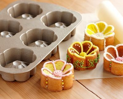 Cute Nordic Ware Garden Bugs and Flowers Shaped Muffin Pans