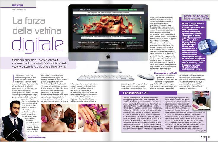 La rivista NTs Beauty Marketing ha spiegato brillantemente la forza di Vanesia. #recensioni #stampa #beauty #marketing #vanesia