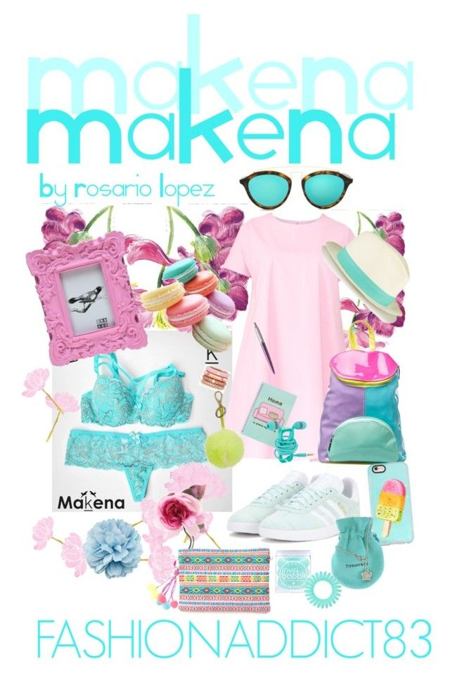 """""""Makena lenceria marca colombiana medellin colombia"""" by mar-quintana on Polyvore featuring moda, adidas Originals, Maiocci, Sixtrees, Pusheen, Parker, Sugarbaby, Adolfo Courrier, Gucci y Anya Hindmarch"""
