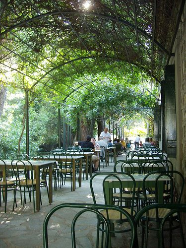 Athens-Greece: coffee drinking in the shadow