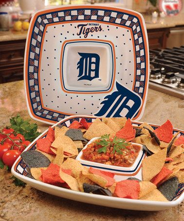 Take a look at this Detroit Tigers Game Day Chip & Dip Platter by The Memory Company on #zulily today!