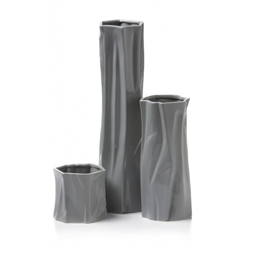 "$49.99 - Set of 3 Ceramic Trunk Vases  Small 5.3"" x 5""H  Medium 5"" x 11.6""H  Large 5.1"" x 18.7""H    Available in Grey and White  www.selecthomeaccents.com"