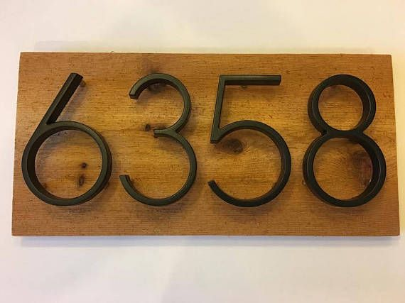 Rustic House Number Sign custom personalized house