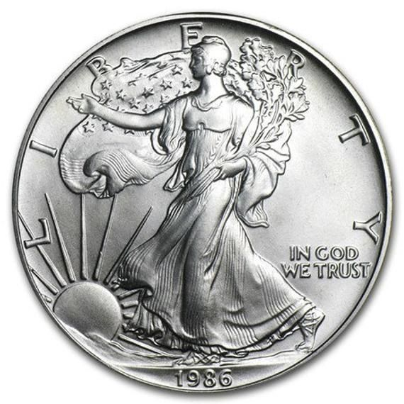1986 Or 1988 Or 1991 Or 1992 Or 1993 American Silver Eagle 1 Etsy In 2020 Silver Eagle Coins Silver Coins For Sale Gold And Silver Coins
