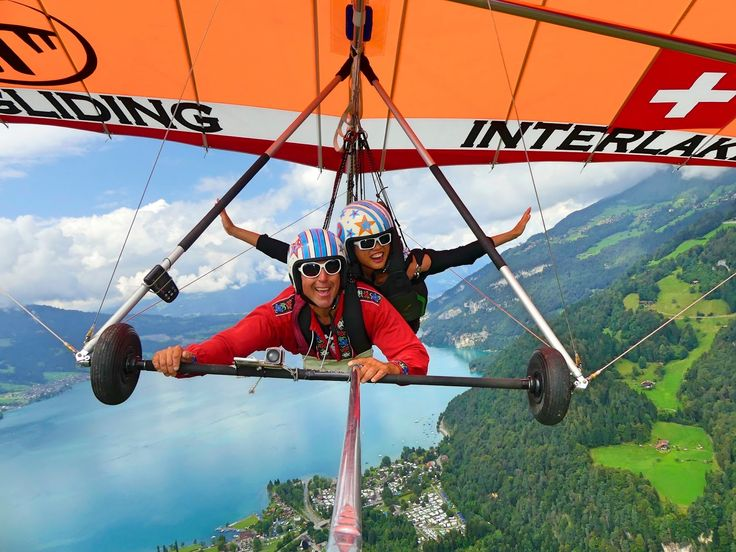 Hang Gliding, Interlaken, fly