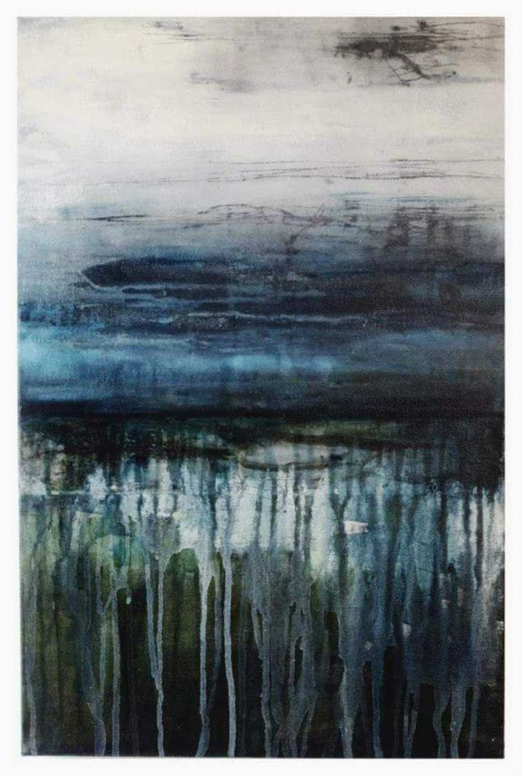 You Hold Curious Water, MELODY FRENCH abstract, contemporary, layered, abstract landscape, modern art - sold -