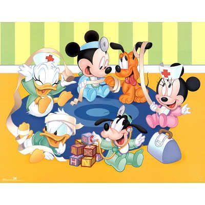 Walt Disney Disney Babies Kid Doctors Art Print Poster