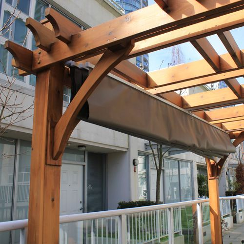 Breeze Pergola With Retractable Canopy Costco Backyard