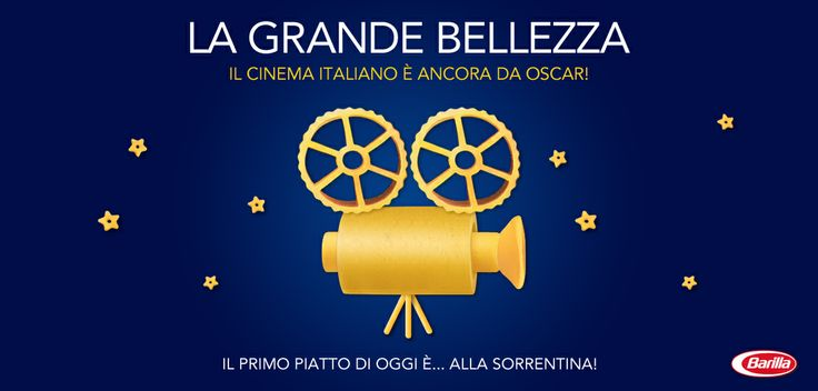 #LaGrandeBellezza trionfa agli #Oscar2014: il primo piatto di oggi è... alla sorrentina! :)
