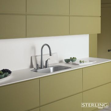 matte hardware-less cabinets