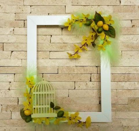Aranyeső tavaszi ajtódísz