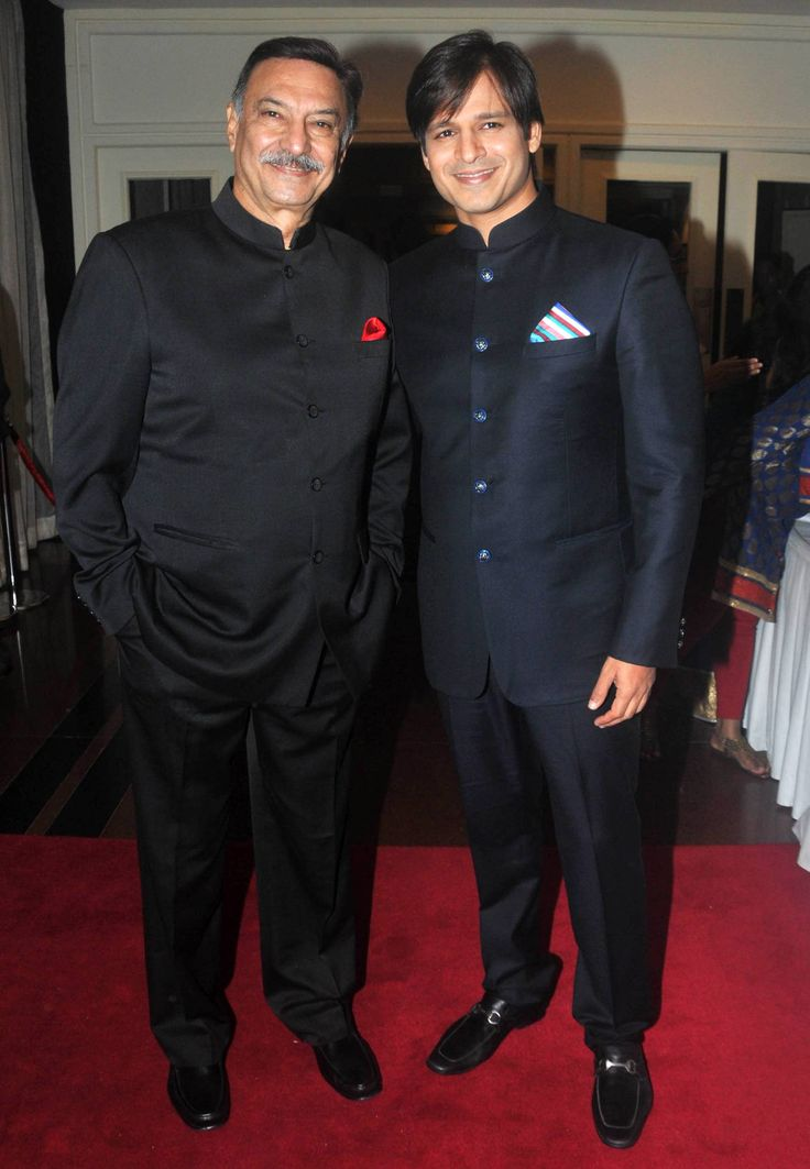 Suresh Oberoi and Vivek Oberoi  Father and son duo