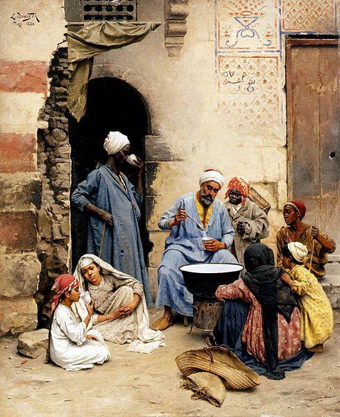 Deutsch, Ludwig, (1855-1935), The Sahleb Vendor Cairo, 1886