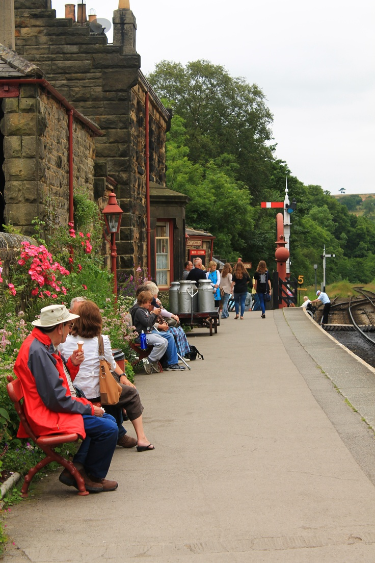 Goathland Station on North Yorkshire Moors Railway, used as filming location for Hogsmeade Station.