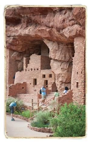 Manitou Cliff Dwellings - Colorado Springs, CO. The Anasazi built large, multi-story stone structures with hundreds of rooms to house the new communities on open ground. by Jecka Oh
