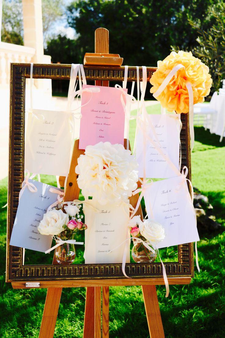 Tischordnung im Vintage Style  so findet jeder Gast leicht seinen Platz  Hochzeitsdekoration