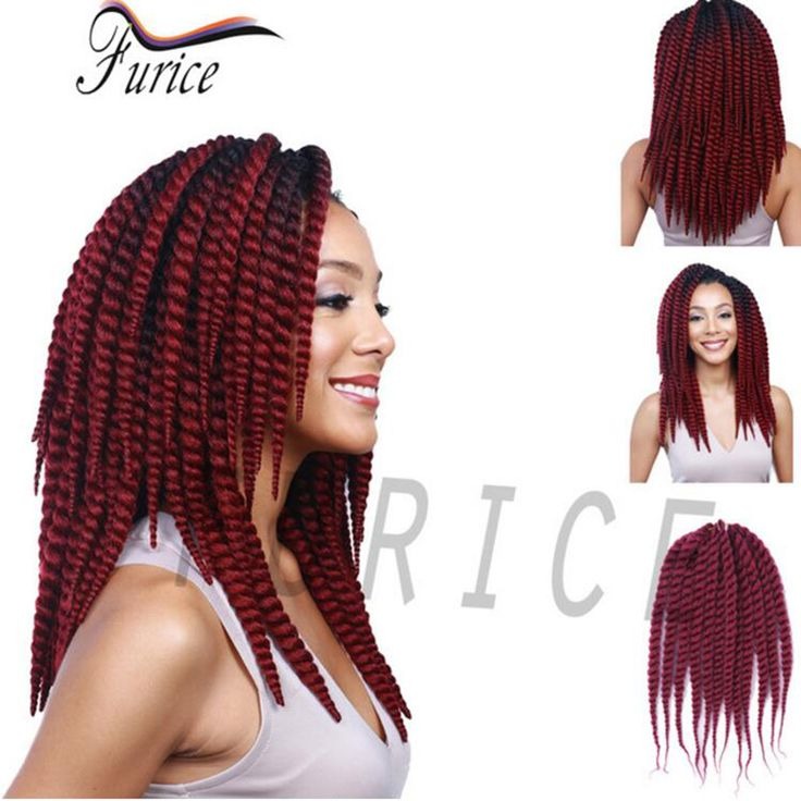 12-24inch Afro Twist Hair 10 Colors Havana Mambo Faux Locs Crochet Hair Extensions 12Roots/Pack 2X Box Braids Crochet Braids