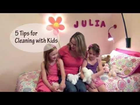 5 Tips for Cleaning with Kids - YouTube