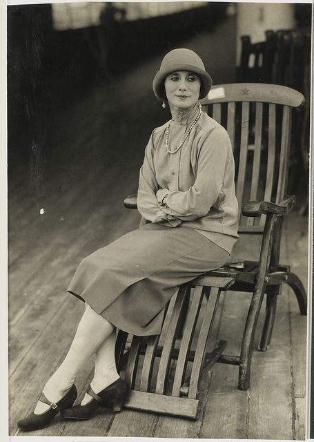 Anna Pavlova on board ship, Australian tour, 1929 / unknown photographer by State Library of New South Wales collection, via Flickr