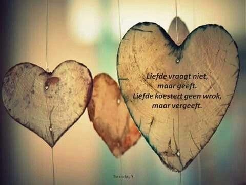 Liefde vraagt niet, maar geeft ...