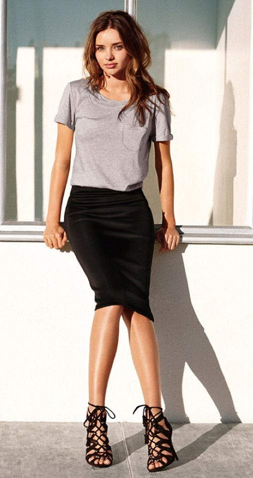 25  best ideas about Tight black skirts on Pinterest | Black dress ...