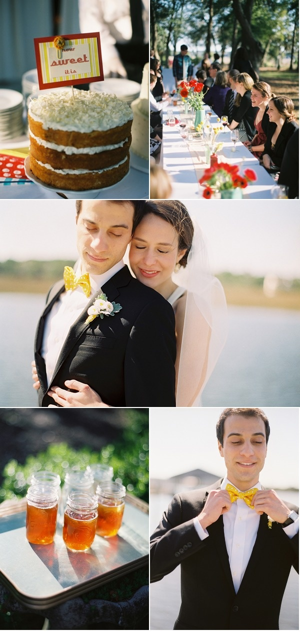 gorgeous cake, gorgeous table setting and my fav. jcrew wedding dress
