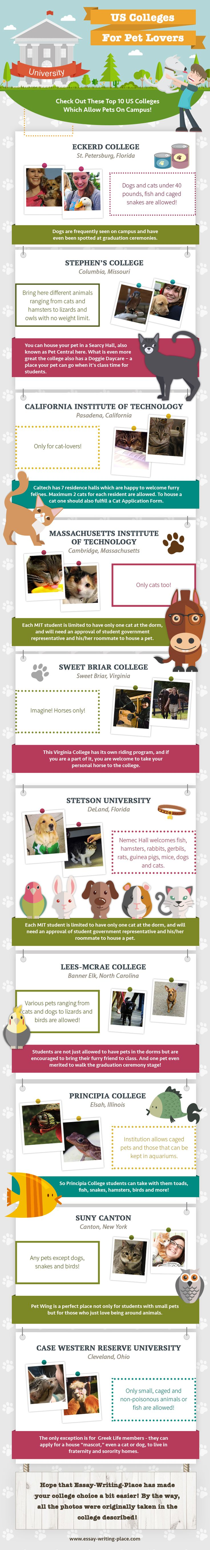 17 best images about life at college your brain infographics top 10 us colleges that permit pets on campus
