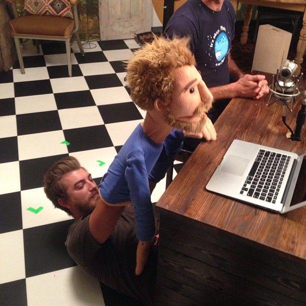 Rhett as a puppet :)