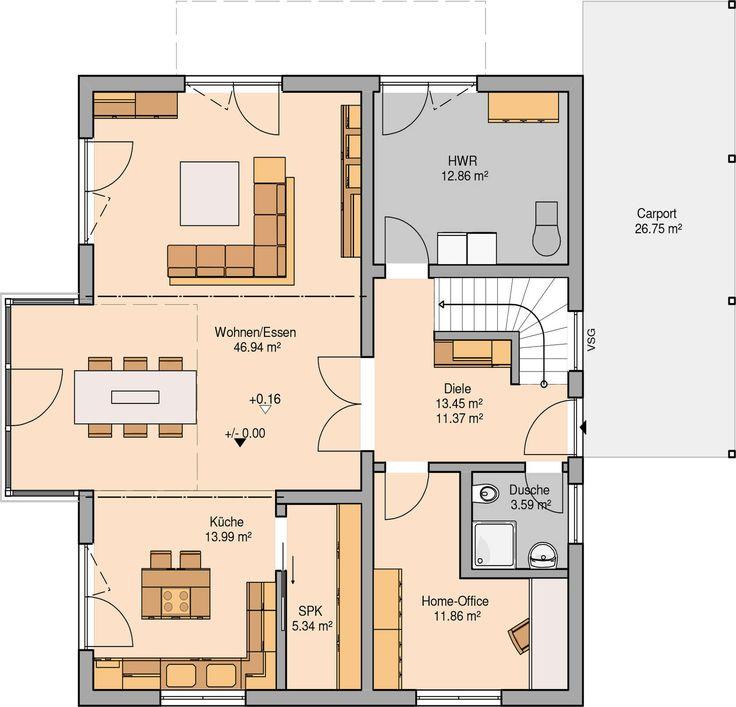Grundriss villa modern  Die besten 25+ moderne Hauspläne Ideen auf Pinterest | Moderne ...