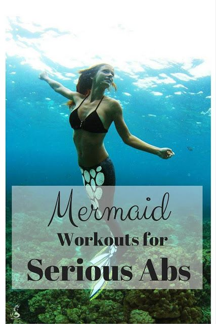 Mermaid Workouts for Serious Abs. Sign me up!!
