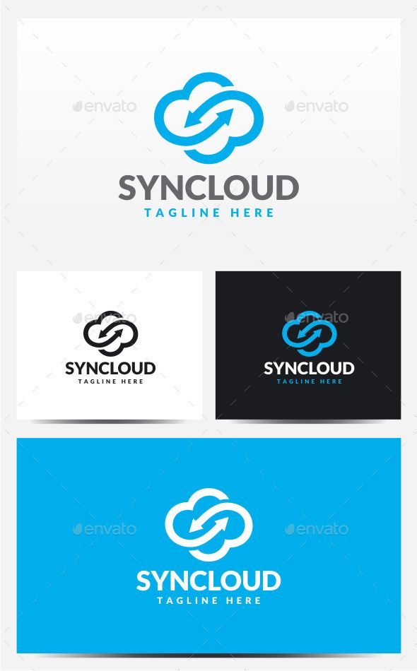 Sync Cloud Logo Template PSD, Vector EPS, AI. Download here: http://graphicriver.net/item/sync-cloud-logo/12778437?ref=ksioks