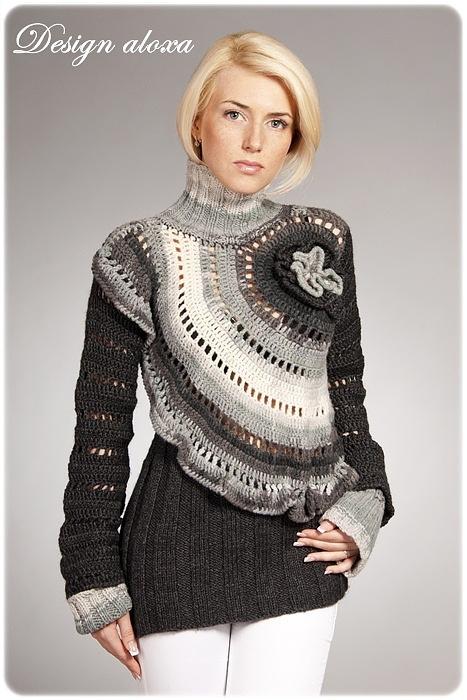 unusual crochet sweater