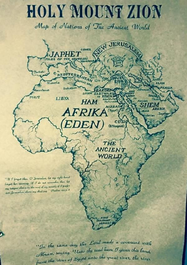 Ancient Map of Eden 582 best kaarten