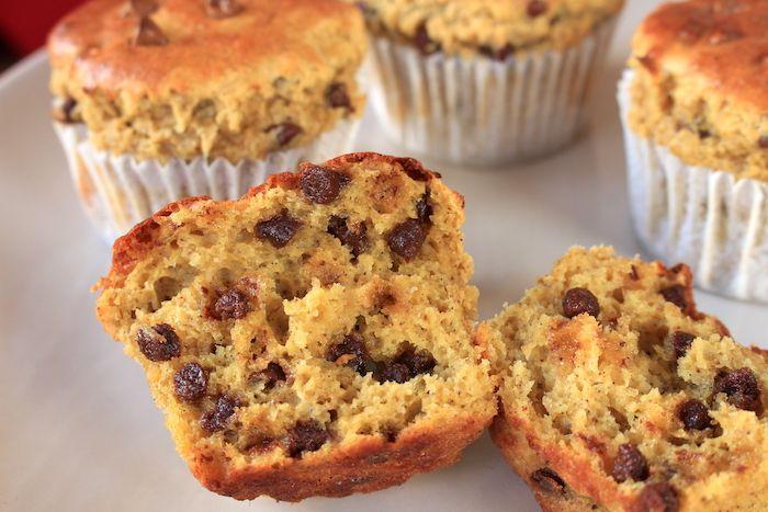 Muffins de sportif banane chocolat à la farine de lupin - Sans gluten - A véganiser (remplacer l'oeuf)