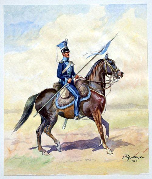 Polish Lancer 2 (Original) (Signed) art by Stefan Pajaczkowski