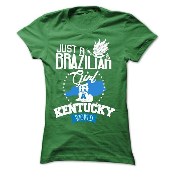 Brazilian girl in KENTUCKY - #disney tee #southern tshirt. BUY-TODAY => https://www.sunfrog.com/LifeStyle/Brazilian-girl-in-KENTUCKY-Ladies.html?68278