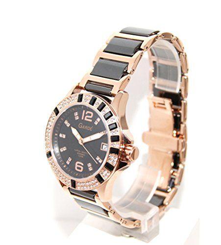 Garde Uhren aus Ruhla Damenuhr Edelstahl / Keramik Elegance 21264 - http://uhr.haus/ruhla-5/garde-uhren-aus-ruhla-damenuhr-edelstahl-keramik