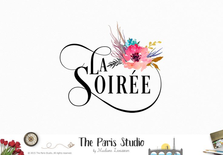 Premade Logo Design by The Paris Studio, Madame Levasseur