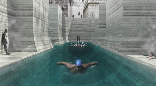 'Thessaloniki's Wet Dream' Thermal Bath Complex Proposal,Courtesy of NaNA (NotaNumber Architects)