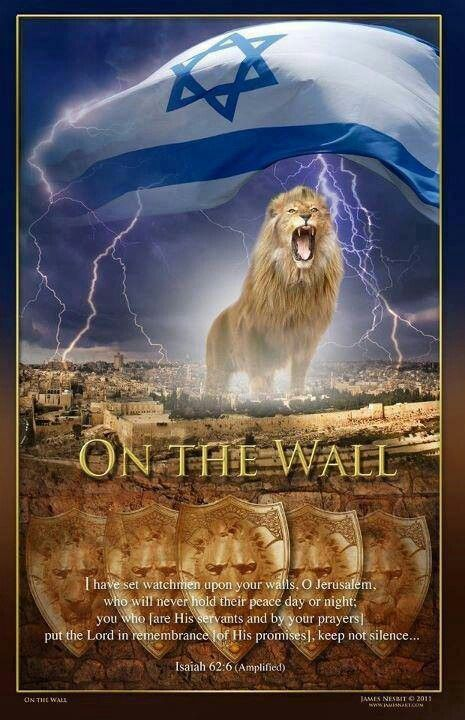Isaiah 62:6 I have posted watchmen on your walls, Jerusalem; they will never be silent day or night. You who call on the LORD, give yourselves no rest,