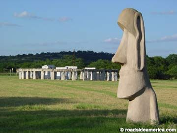 Stonehenge replica and Easter Island head replica. Not exactly 'local', but a photo destination!
