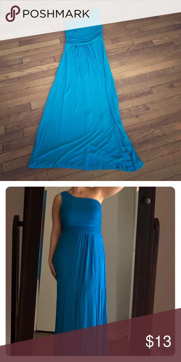 Electric blue maxi dress Very comfortable and flattering one strap maxi dress from Akira. AKIRA Dresses Maxi