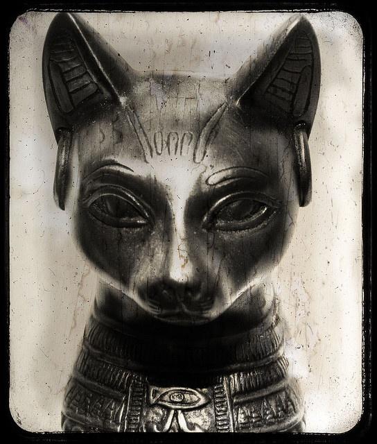 """La diosa Bast tenía cabeza de gato, y era la encargada de la fertilidad, de proteger a los niños y, por supuesto, a los gatos. Cuando era representada con forma completa de gato se le llamaba """"Bastet"""". Por el contrario, la diosa Sekhmet también tenía forma de gato, pero representaba las fuerzas destructivas de lo divino, como la guerra, la peste y la venganza."""